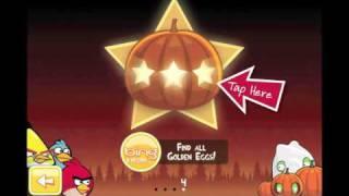 Angry Birds Seasons Trick or Treat Pumpkin Level Walkthrough