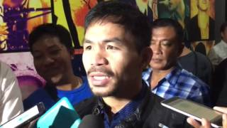 Pacquiao: Boxing is my passion, profession; I miss it