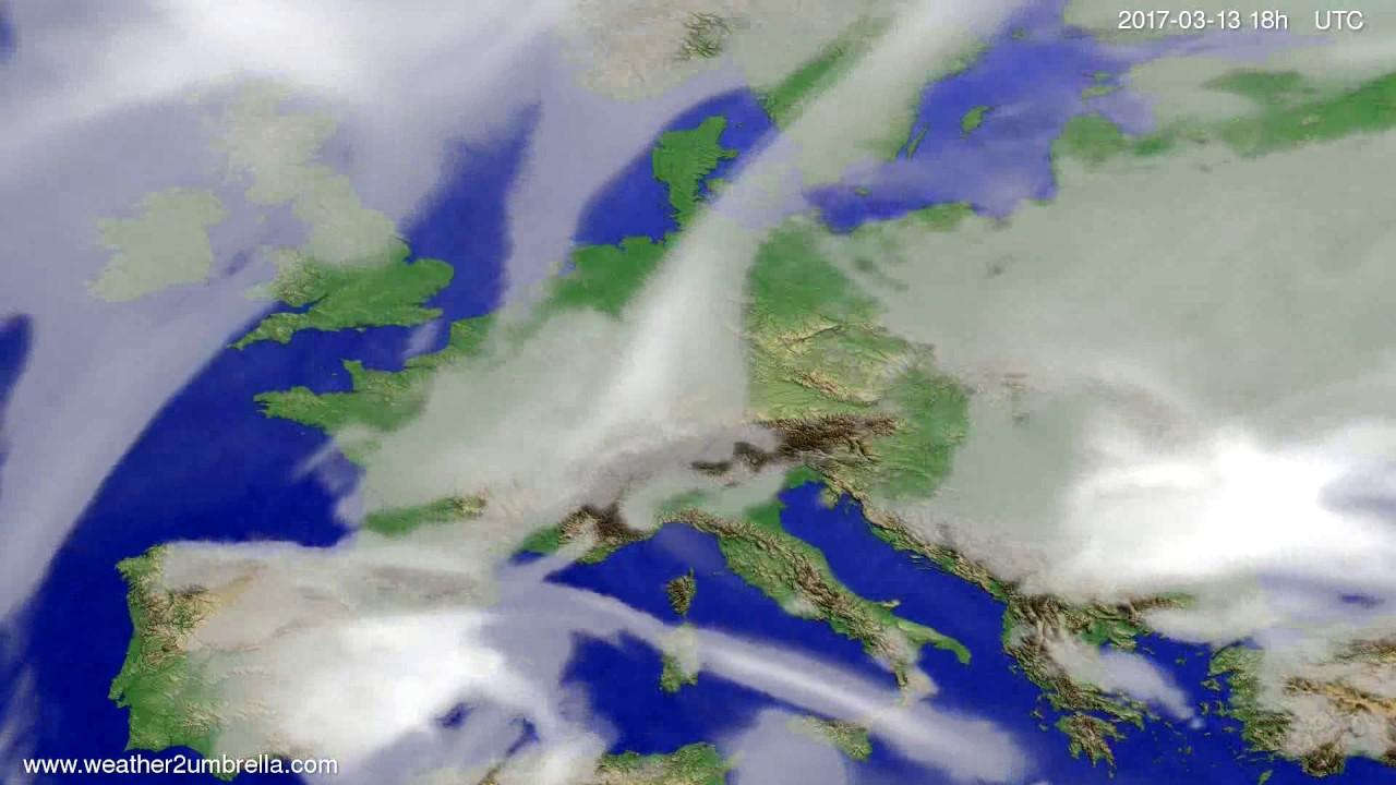 Cloud forecast Europe 2017-03-10
