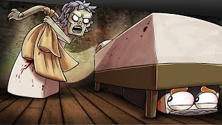 Minecraft Granny - SHE CAN'T SEE MY SECRET HIDING SPOT! (Granny Horror Game)