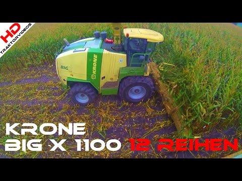 Krone BiG X 1100 - 12 Reihen pure Kraft - 2016 [Maisernte] (видео)
