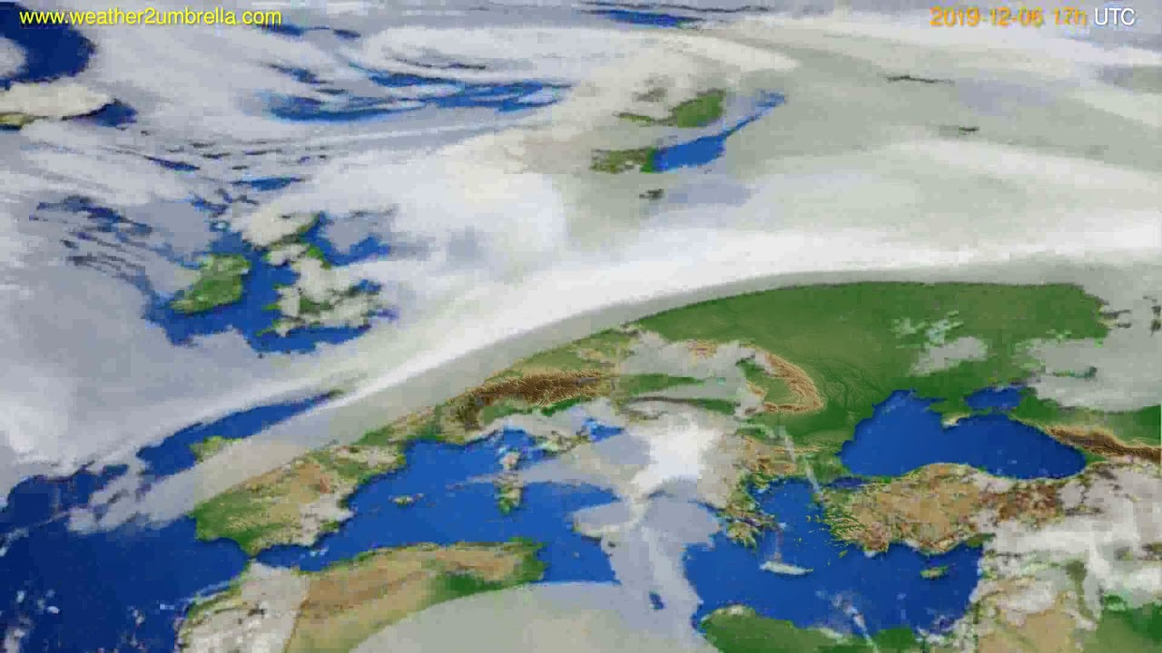 Cloud forecast Europe // modelrun: 00h UTC 2019-12-05