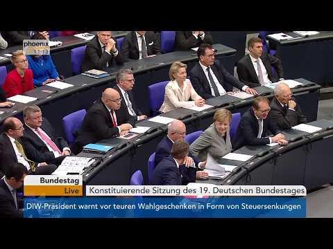 Eröffnung der konstituierenden Sitzung des 19. Deutsche ...