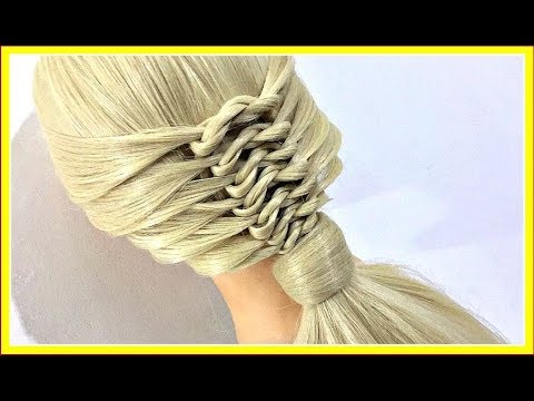 Braid hairstyles - TIES ON TIES BRAID HAIRSTYLE / HairGlamour Styles /  Hairstyle Tutorials