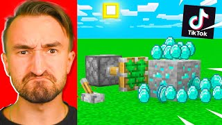 Testing 10 VIRAL Minecraft TIKTOK Tips To See If They Help   JeromeASF