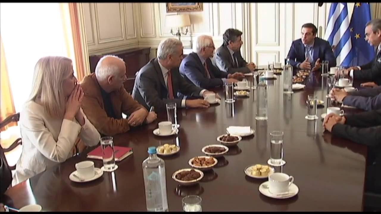 Συνάντηση με μέλη της Οργανωτικής Επιτροπής Διαλόγου για τη Συνταγματική Αναθεώρηση