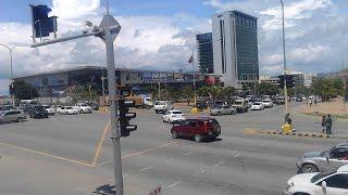 Driving Through city of Port Moresby, Papua New Guinea.