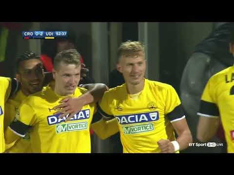 Crotone 0-3 Udinese Highlights 05/12/2017