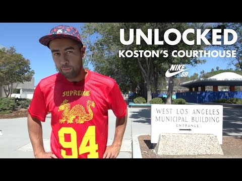 La - Legendary Nike SB pro Eric Koston gives us a guided tour of the newly-liberated historic West LA Courthouse. Trevor Colden, Daryl Angel and Karsten Kleppen throw in some tricks as well. http://ww...