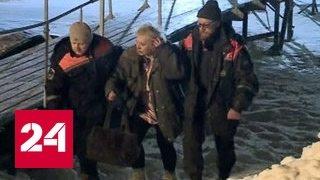 На Волге под лед провалился снегоход: утонули мужчина и два мальчика