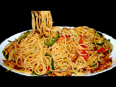 Tasty Spaghetti Recipe - Chicken Vegetable Spaghetti - Homemade Spaghetti Recipe