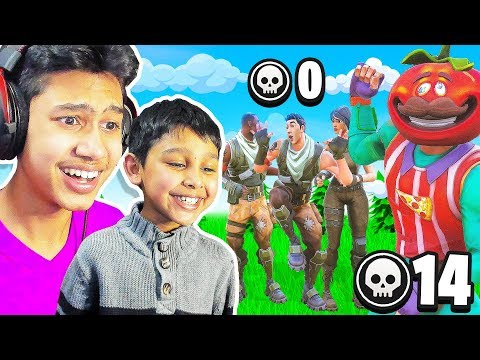 7 Year Old CARRIES Squads while I actually play in Fortnite...