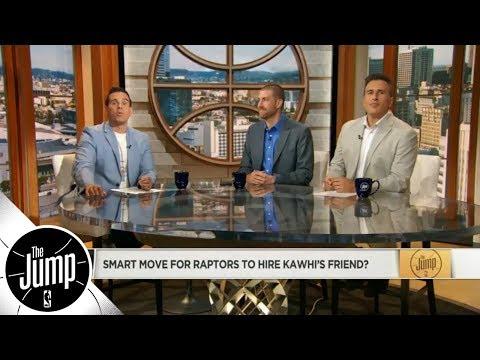 Smart move for Raptors to hire Kawhi Leonard's friend? | The Jump | ESPN (видео)