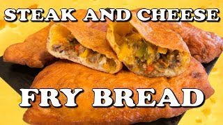 Ameer Atari aka Prince Wallek teaches you how to make a Steak and Cheese Deep Fry Bread! It's gosh darn amazing, so go make it! IngredientsDough1 Cup of warm water1 Tsp yeast 1 Tsp minced garlic 2 1/2 Cups of flour1 Tbsp baking powder1 Tsp salt 1 Tsp garlic powder1/2 Cup powdered sugar 1/2 Pack of bacon4 Thin frying steaks 1/2 Onion 1/2 Green pepper 1/2 Red pepper1/2 Yellow pepper1/2 Orange pepper3Tbsp Garlic butter 1/2 Cup cheese whiz4 Slices of provolone cheese1 Cup shredded cheddar cheeseVegetable oil for deep frySalt and pepper to seasonTools1 Cutting board1 Chef knife1 Large pot2 Frying pans2 Mixing bowls 1 Wooden/ slotted spoon 1 Pair of metal tongs/ metal slotted spoon1 Rolling pin Step 1 In a mixing bowl add 1 cup of warm water, 1 Tsp yeast and 1 Tsp minced garlic let activate for 5 minutes. Mix together 2 1/2 cups of flour, 1 Tbsp baking powder, 1 Tsp salt, 1 Tsp garlic powder and 1/2 cup powdered sugar then add to yeast mixture until a dough is formed. Cover with a Towel and let rise for 30 minutes.Step  2Cut 1/2 an onion, 1/2 a green pepper, 1/2 a red pepper, 1/2 a yellow pepper and 1/2 an orange pepper up into fine slivers then saute in a frying pan until tender.Step 3Cut bacon into bits and cook in a frying pan on medium heat for 10 to 15 minutes. Once cooked mix with vegetables.Step 4 Cut steak into fine pieces then fry in a pan with vegetable oil, salt and pepper once the steak is cook add to the vegetables andlet simmer for 5 minutes.Step 5Flour a surface and roll out dough to 1/2 inch thick into a rectangle then lay down slices of provolone cheese and stuff with meat mixture, shredded cheese and cheese whiz. Fold in half and crimp dough then cut of any excess dough.Step 6Heat a pot of oil to 350 degrees Fahrenheit and deep fry stuffed dough for 5 to 6 minutes until golden brown. Once deep fried brush with garlic butter and serve with a dipping sauce.Check out Harley's Video Diaries - http://www.youtube.com/HarleyMoreWe have a #YouTubeGaming Channel: