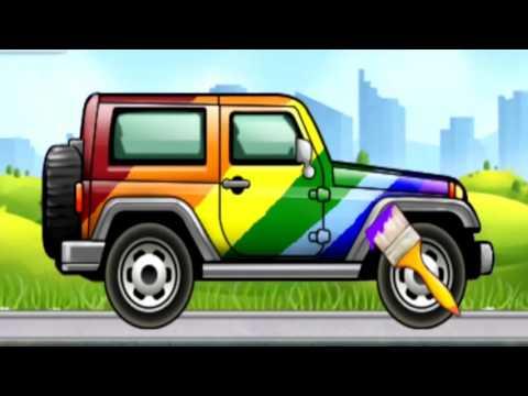 Машинки. раскраска машин. учим цвета. развивающий мультик
