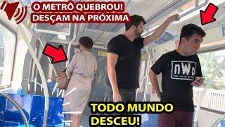 Google tradutor - COLOQUEI A VOZ DO GOOGLE NO METRÔ E FIZ TODO MUNDO DESCER
