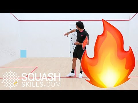 Playing on a hot squash court - Targets at the back