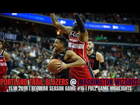 Portland Trail Blazers vs Washington Wizards - Full Game Highlights - November 18, 2018