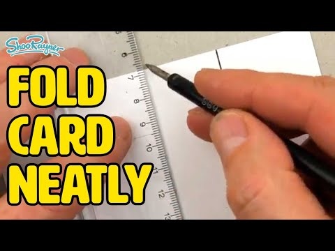 How to score & fold card neatly