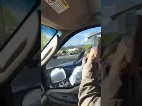 Video Lady Goes Crazy Waving A Knife And Headbutting The Windows Of A Truck! download in MP3, 3GP, MP4, WEBM, AVI, FLV January 2017