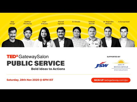 TEDxGatewaySalon : Public Service - Bold Ideas to Actions
