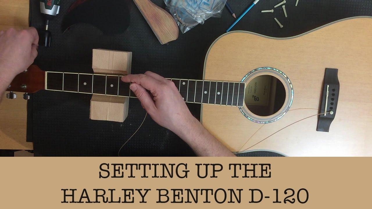 Setting up my cheap acoustic guitar – Harley Benton D-120NT