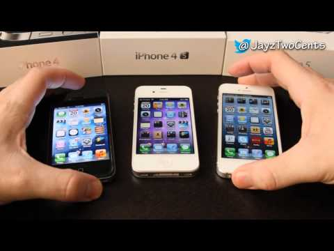 iphone 4S - Follow me on Twitter for all your tech news! http://www.twitter.com/jayztwocents The black phone is a Verizon iPhone 4, which is why it looks like a 4S. For ...