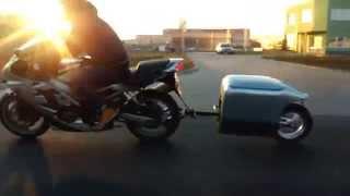 Przyczepka motocyklowa jednokołowa