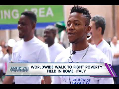WORLDWIDE WALK TO FIGHT POVERTY HELD IN ROME, ITALY