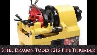 "Steel Dragon Tools introduces a Low Cost Industrial Quality Pipe Threading Machine used for Threading, Cutting, and Reaming Water, Electric, and Gas Pipes ranging from 1/4"" - 1-1/2"" Inches NPT.This portable and compact, high-performance threading machine has a self-opening die head and a through die head oiling system. It is completely equipped and ready to cut, thread, and ream pipe up to 1-1/2"" inches in diameter.Features:• Range of work is 1/4"" inch to 1-1/2 "" inch NPT (National Pipe Thread)• Built in oiling system produces reliable high quality threads. Oil is pumped with a gear driven pump and automatically recirculated through the system.• Fits RIDGID ® Dies• Fits RIDGID ® Universal Die Head• Heavy Duty 60 HZ 110/120 V, single phase 1100W series motor with 1 year Warranty.Industrial strength 1/4 - 1-1/2 "" inch pipe cutter• Alloy Steel Dies are made of with Rockwell Hardness of 58-62 HRC for long life.• Maximum Chuck Capacity is 2 inches or 51mm• Pentangular 5 Blade Conical Reamer• Maximum amperage under load is 18.5 amps• 40 Turns per minute for high quality threadsSize:The machine without the stand measures 18 ""x14""x12"" (500x 470x400) and weights 96 lbs. Shipping weight is 140 lbsYellow Powder Coatred Paint provides a great looking machine for years to come.Includes:• SDT 811A Universal Die Head• SDT 1/4""-3/8"" Dies• SDT 1/2""-3/4"" Dies• SDT 1""-2"" Dies (Capacity of Machine is only 1 1/2"")• Industrial Strength Pipe Cutter• Tool Kit including Wrenchs and Oil Can• **Sorry Does Not Include Threading Oil"