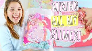 Video Mixing all my slimes - Winter Pastel Slime Smoothie MP3, 3GP, MP4, WEBM, AVI, FLV Januari 2018