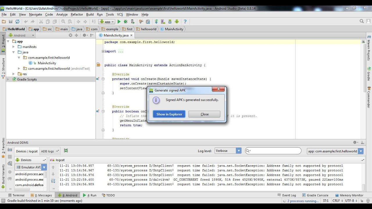 Descargar Export your app from Android Studio para celular #Android