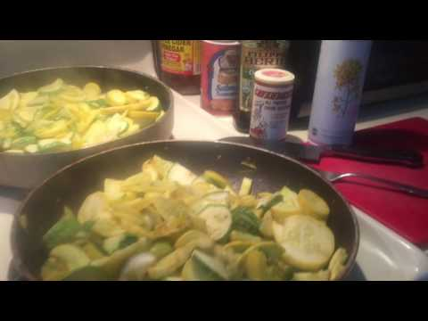 The Art Of Cooking - Stove Top Cooking Zucchini & Squash, - From Garden To Skillet