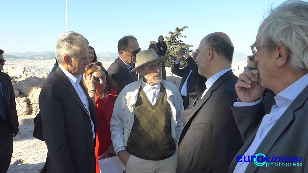 Επίσκεψη του Πιερ Μοσκοβισί στη Ακρόπολη