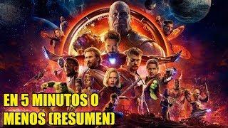 🔴 Avengers: Infinity War *Resumido* en 5 minutos o menos #Resumen