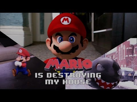Mario is Destroying Man s house