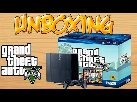 Unboxing PS3 SuperSlim Edicion Grand Theft Auto V 250GB