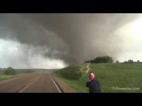footage - Extreme @GoPro footage of massive wedge tornado near Coleridge, Nebraska on June 17, 2014 from the Dominator 3 dash cam! @seanschofertvn.