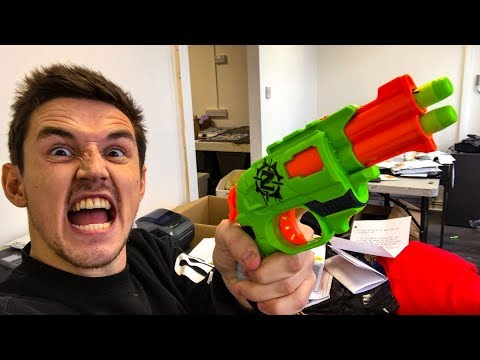 NERF TRICK SHOTS / OFFICE EDITION! (видео)