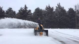 2. Cub Cadet XT1 GT50 with 3X snowblower attachment