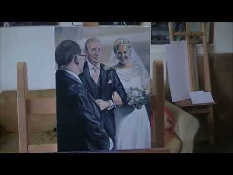 Timelapse Wedding Portrait by Fermanagh Artist Kevin McHugh Art