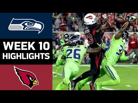 Seahawks vs. Cardinals | NFL Week 10 Game Highlights (видео)