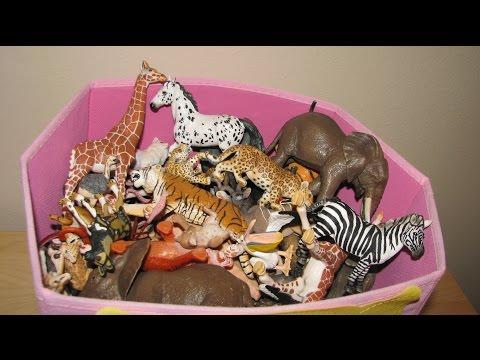 My Animal Toy Collection in the Box Part 2 Schleich Safari Wildlife ZOO Farm Animals Toys
