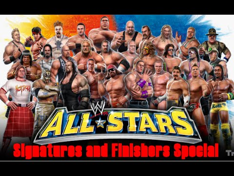 Alle WWE Allstars Signature und Finishers / All WWE Allstars Finishers and Signatures