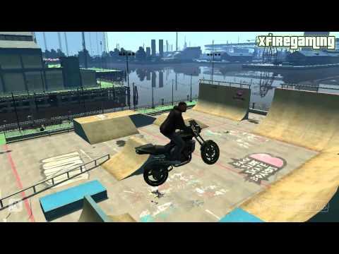 GTA IV EFLC - Skate Park Stunts & Tricks