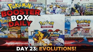 OMG!!! SO MANY MEGAS!!! - Pokemon Cards Evolutions Booster Box Opening - Pokemon Box Daily Day 23 by ThePokeCapital