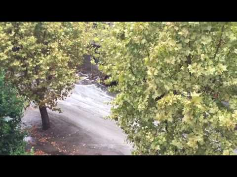 Teramo, strana schiuma a viale Bovio FOTO VIDEO