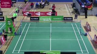 FZ Forza Irish Para-Badminton International 2018 - Day 4 - Court 4