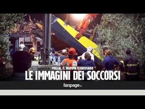 Strage in Puglia, i soccorritori a lavoro tutta la notte