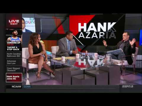 "Hank Azaria joins SportsCenter to promote IFC's ""Brockmire"""